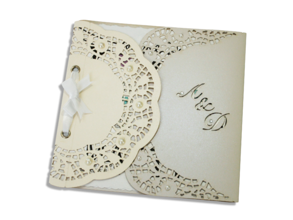 Laser Cut Amy Wedding Invite