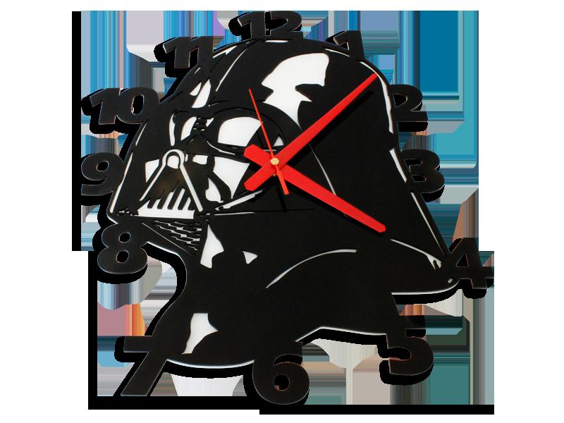 Laser cut vader perspex wall clock - Darth vader wall clock ...