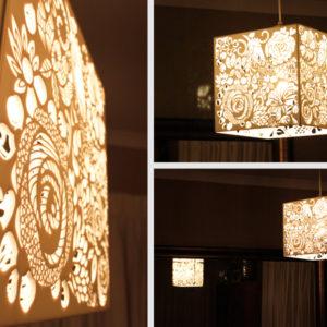 Laser Cut Floral Perspex Light Shade