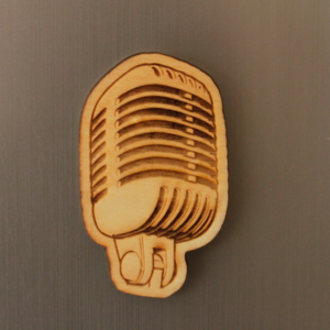 Microphone Fridge Magnet