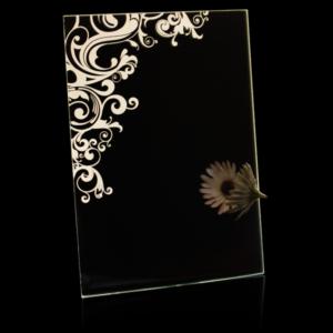 Laser Engraved Swirl Mirror