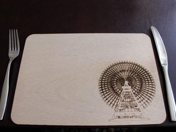 Laser Cut Ferris Wheel Placemat