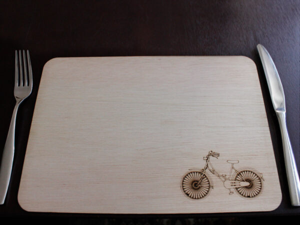 Laser Cut Bicycle Placemat