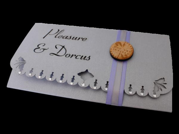 Laser Cut Dorcus Wedding Invite
