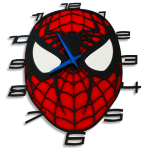 Laser Cut Spiderman Perspex Wall Clock