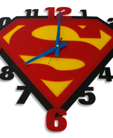 Laser Cut Superman Perspex Wall Clock