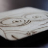 Laser Engraved Minion Wooden Coaster Set