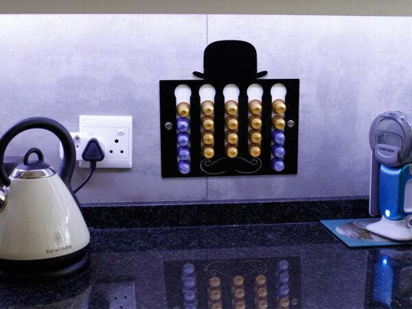 Laser Cut Muzzy Coffee Pod Holder