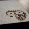 Wooden Laser Engraved Owl Coaster Set
