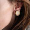 Laser Engraved Wood Doily Earrings