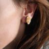Laser Engraved Wood Microphone Earrings