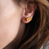 Laser Engraved Wood Muzzy Earrings