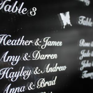 Laser Engraved Wedding Seating Plan Mirror