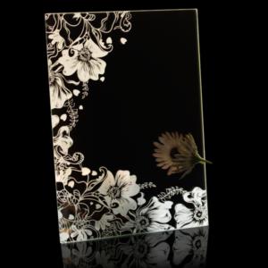 Laser Engraved Floral Mirror