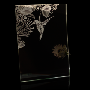 Laser Engraved Humming Bird Mirror