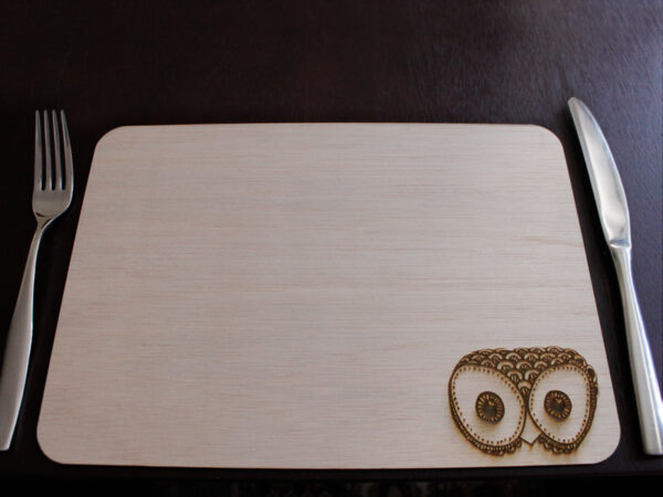 Laser Engraved Owl Placemat