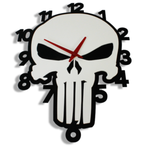 Laser Cut Punisher Perspex Wall Clock