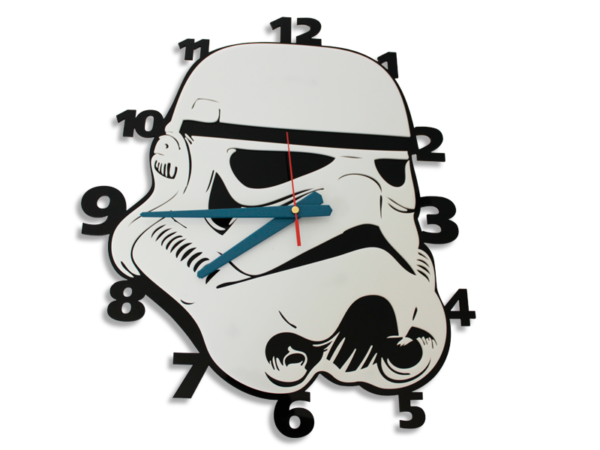 Laser Cut Storm Trooper Perspex Wall Clock